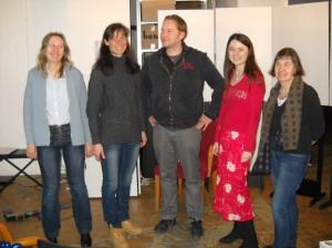Martina Jung, Bettina Ferbus, Norbert Holubek, Nina Horvath, Eva Jancak © Margit Kröll
