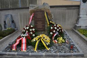 Gedenkstein für die politischen polnischen Häftlinge in Stein