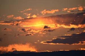 Sonnenuntergang auf Göttweig
