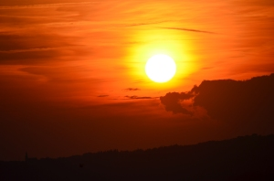 Motovun, Sonnenuntergang