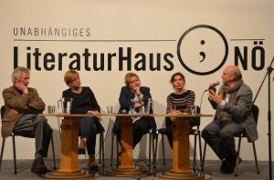Alfred Komarek, Barbara Schwarz, Gabriele Ecker, Maria Scholl, Gerhard Ruiss
