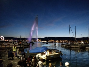 In Genf in Erwartung des Feuerwwerks