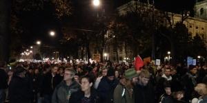 Demo am Eingang zum Heldenplatz